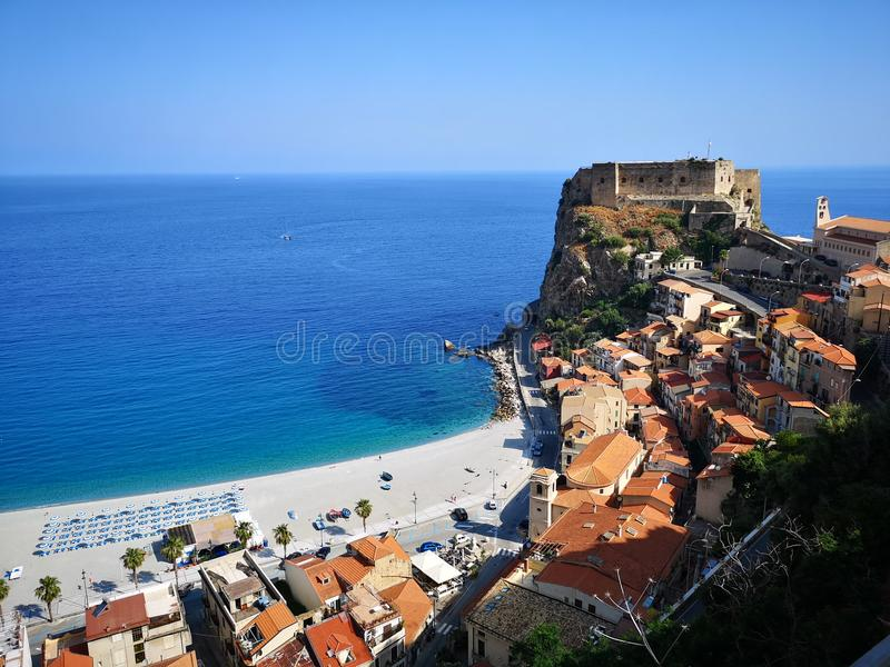 Scilla old historical town, Italy royalty free stock photos