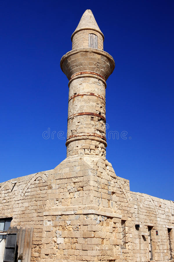 Download Old Beacon At Ceasarea Royalty Free Stock Photos - Image: 21972568