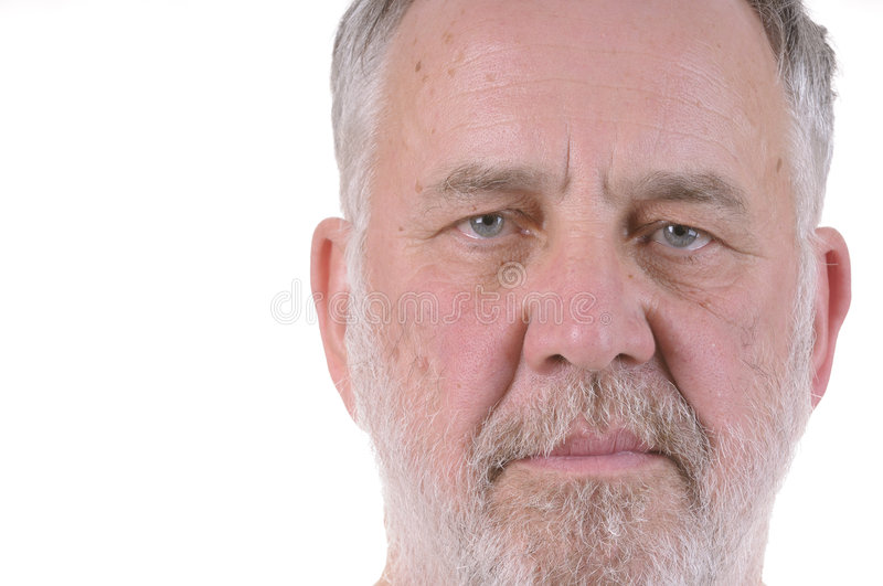 Download Old bearded man stock photo. Image of nose, elderly, weathered - 7226892