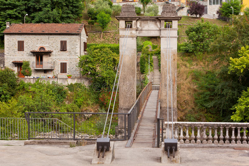 Old Beautiful Bridge In Bagni Di Lucca, Italy Stock Photo - Image of ...