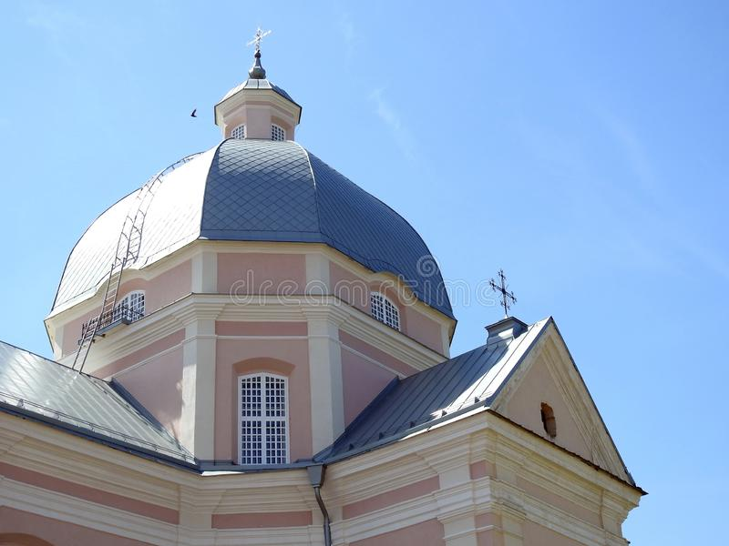 Old beautiful catholic church, Lithuania stock photography