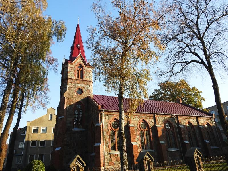 Old beautiful catholic church, Lithuania royalty free stock photos