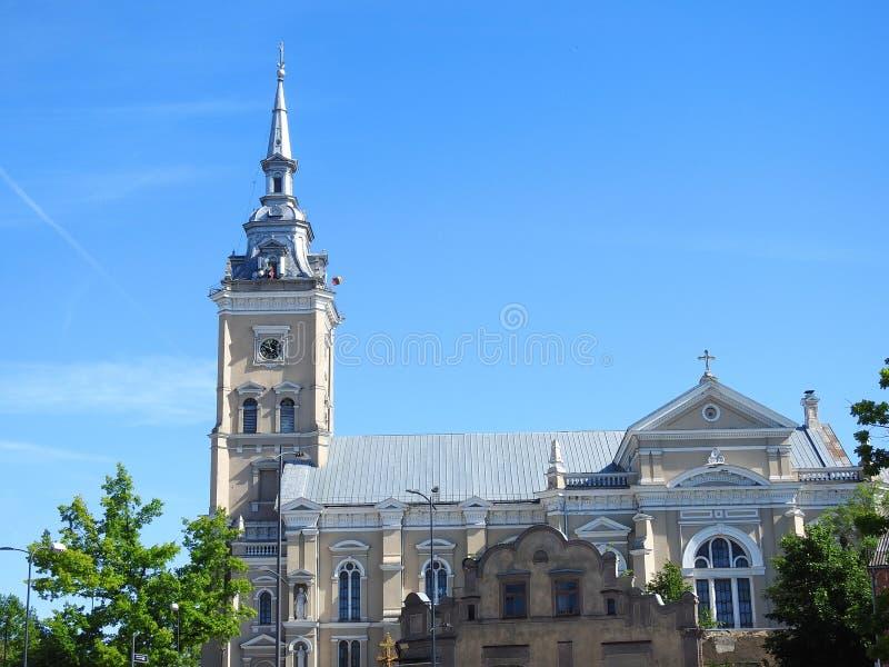 Old beautiful church . Lithuania stock photos