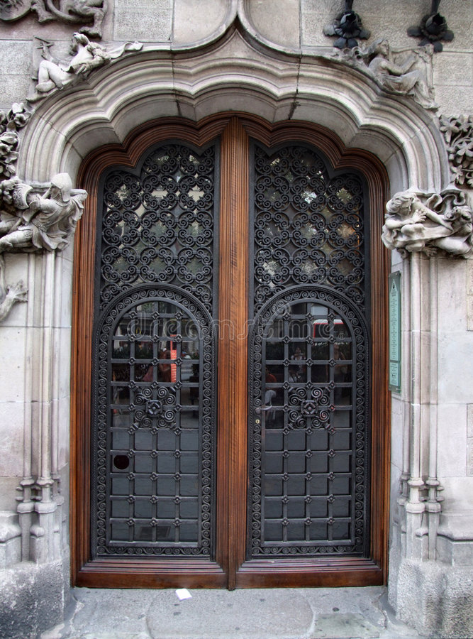 Old beautiful door stock images