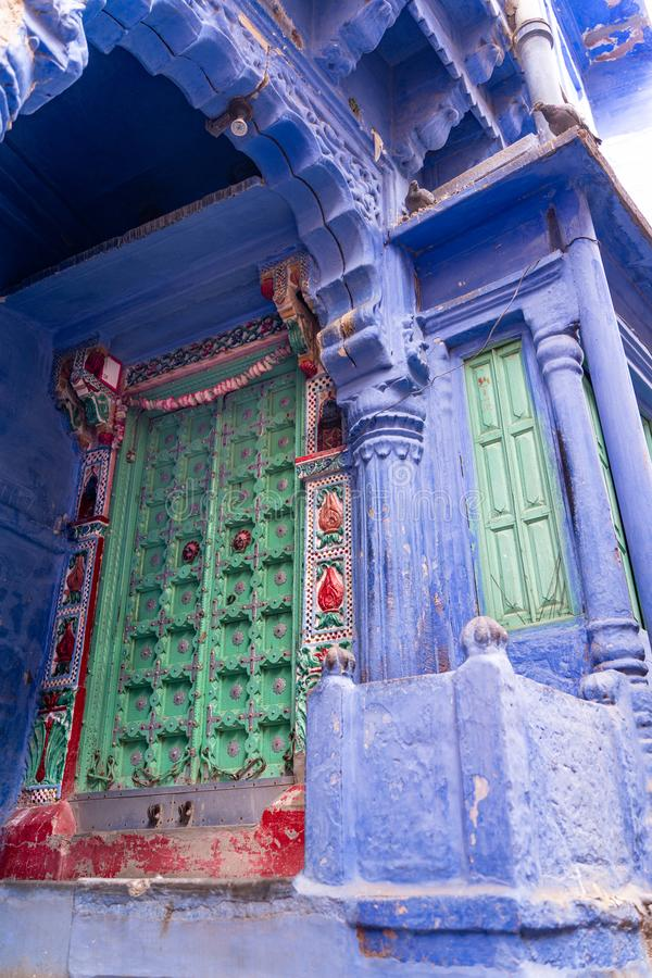The old and beautiful yard in Jodhpur royalty free stock photography