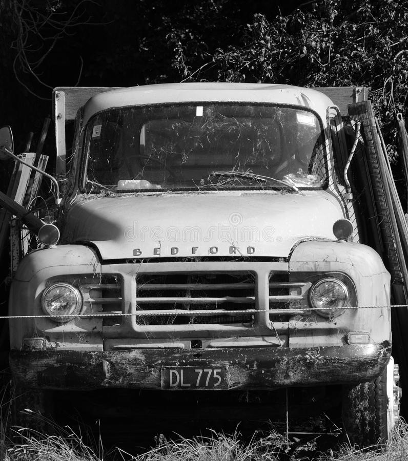 Old Bedford lorry stock photos