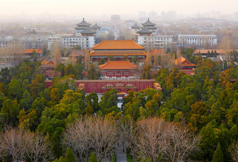 Download Old Beijing city, China stock image. Image of emperor - 28953995