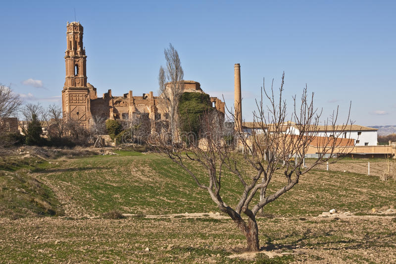 Old Belchite royalty free stock images
