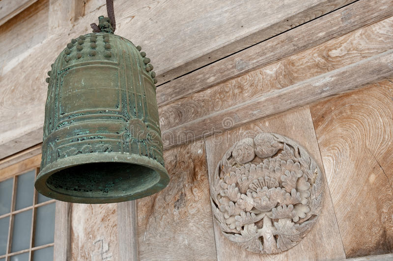 Download Old Bell, Front Of Shinto Temple, Japan Royalty Free Stock Photos - Image: 14954988