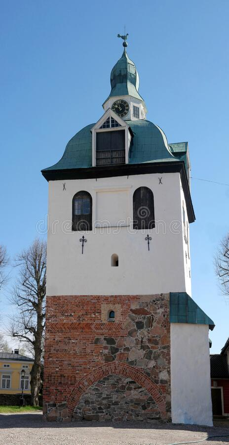 The old bell tower. Little church at the Porvoo Cathedral, Porvoon tuomiokirkko, cathedral of the Evangelical Lutheran Church of. Finland from the 15th century royalty free stock photos