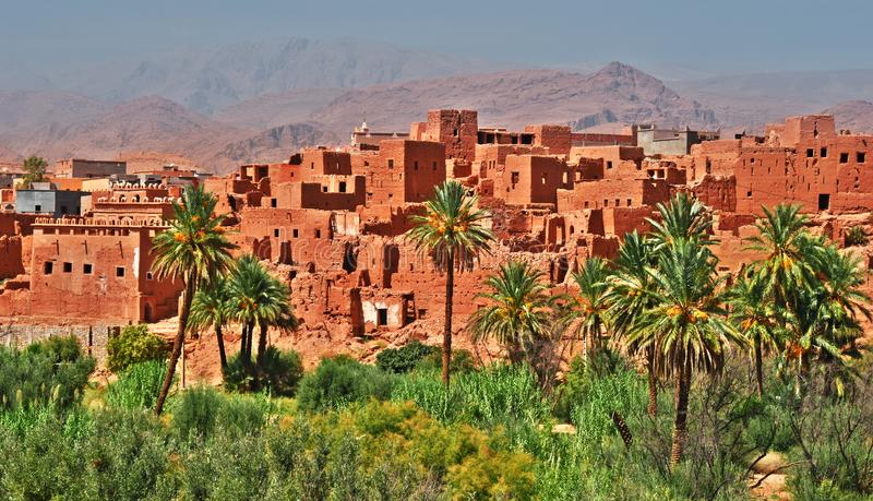 Old berber architecture near the city of Tinghir, Morocco royalty free stock photography