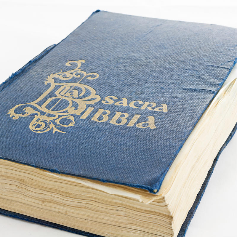 Old Bible. The cover of an old bible royalty free stock images