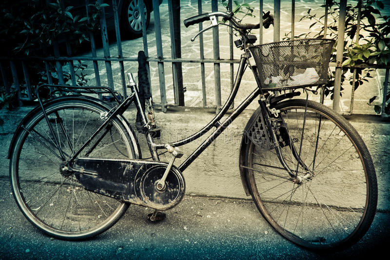 Download Old  bicycle stock photo. Image of background, rusty - 14182824