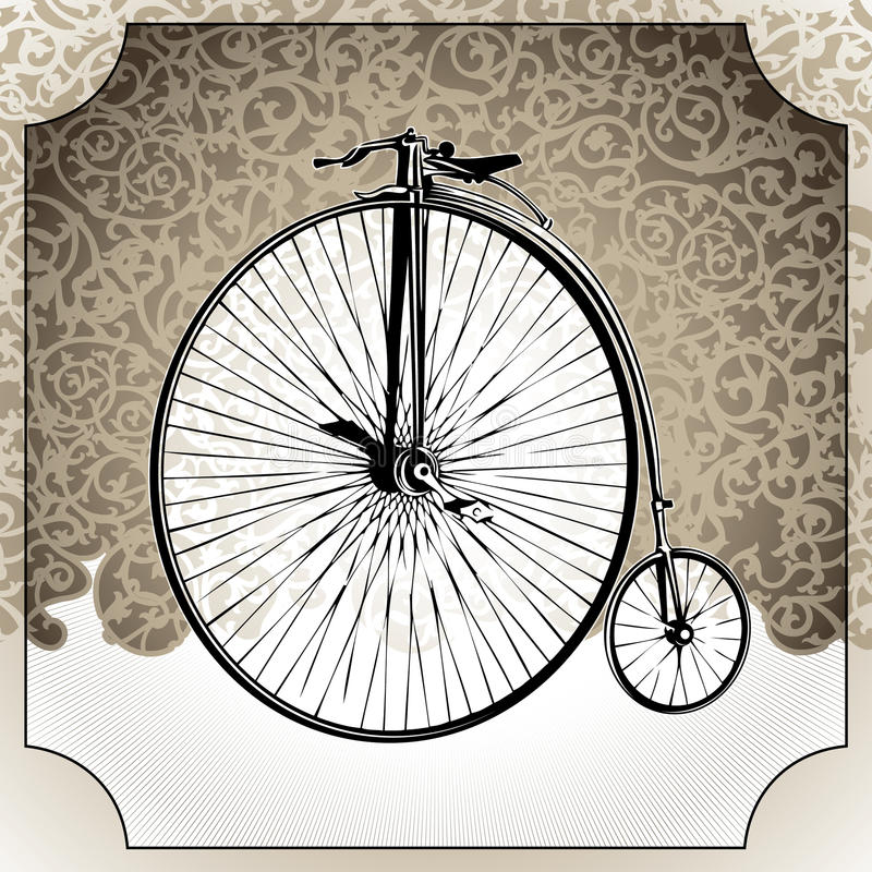 Download Old bicycle. stock vector. Image of play, entertainment - 18271928