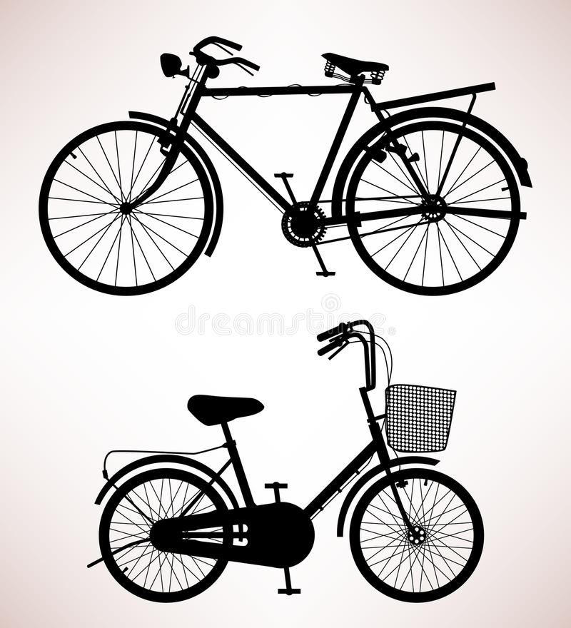 Download Old Bicycle Detail stock vector. Image of basket, transportation - 18506458