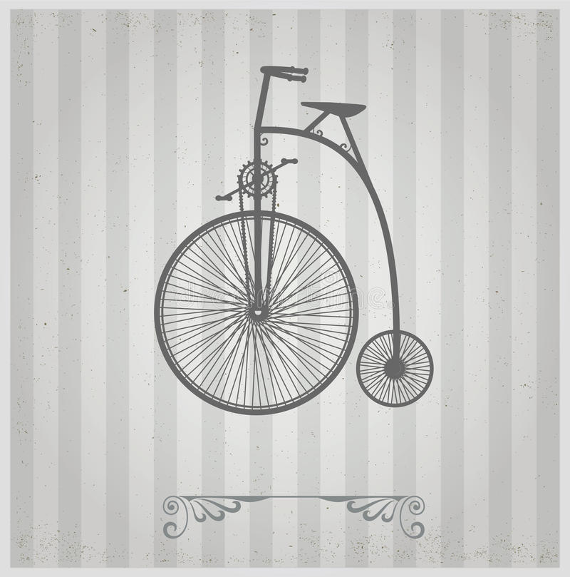 Old bicycle. stock vector. Illustration of decorative ...