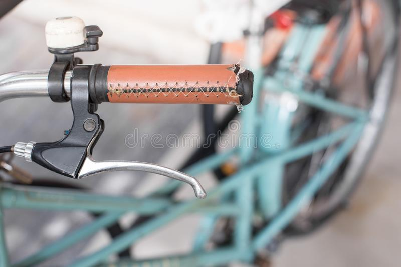 Old bicycle handle royalty free stock photography