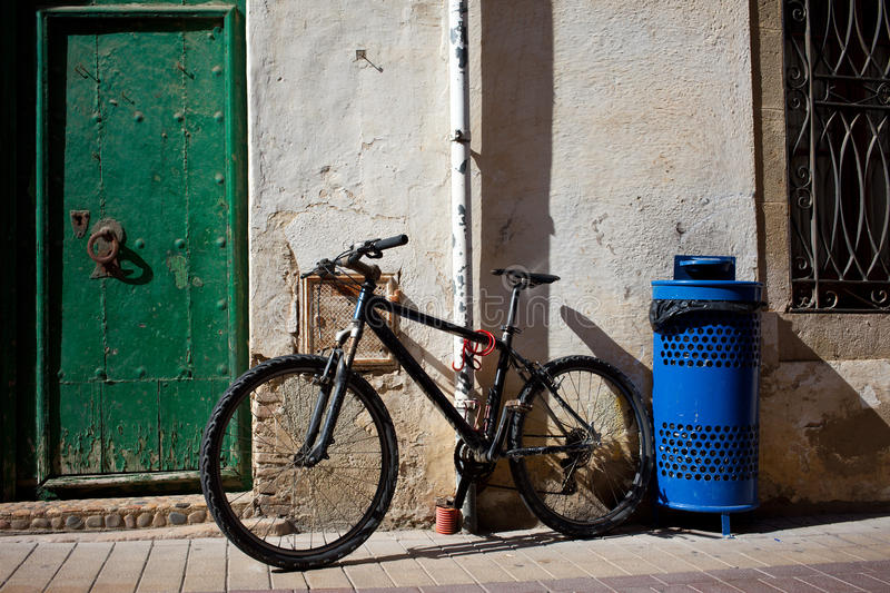 Old bicycle near the ancient walls