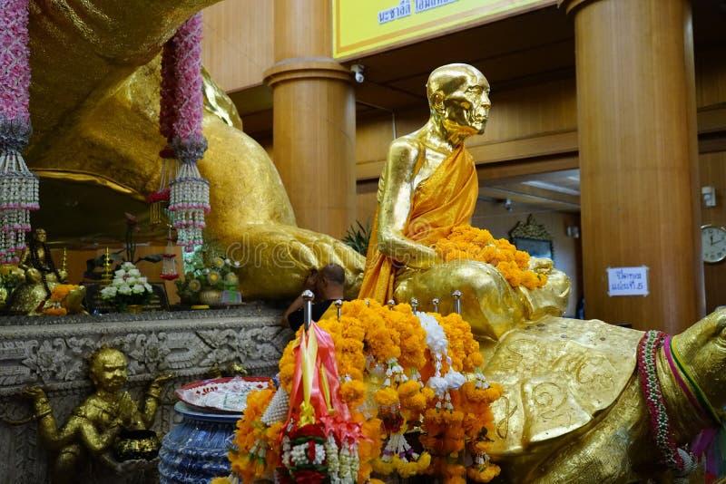 The big bubdah at nakornpatom , thailand. The Old big buddah of raitangngam temple ,march 2020 , thailand stock photography