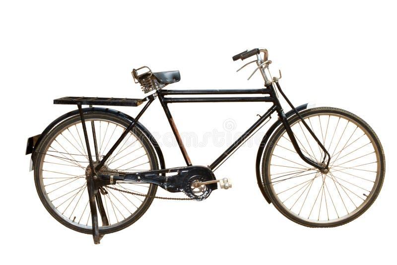 Old bike. Isolated on white background stock photo