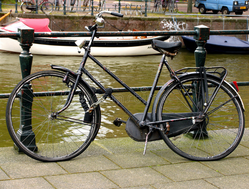 Old Bike Near River Royalty Free Stock Photo