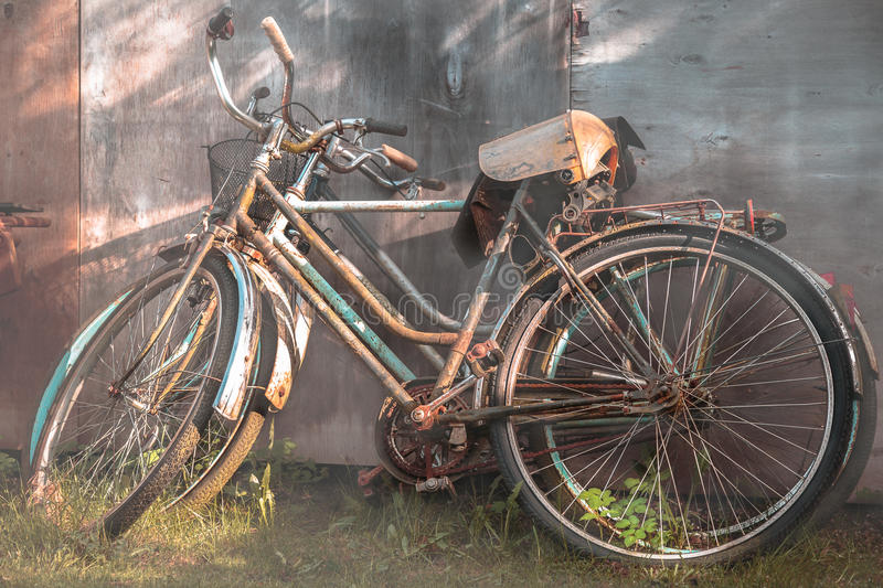Old bikes royalty free stock images