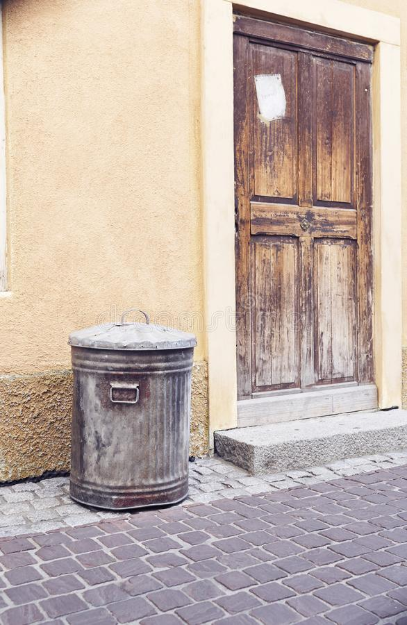 Old bind in the street.  royalty free stock photos