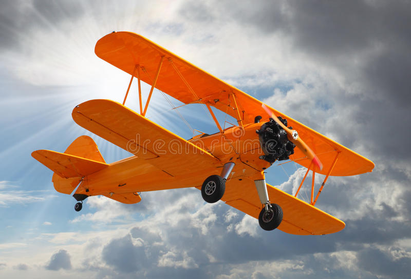 Download Old Biplane. Stock Images - Image: 29670724