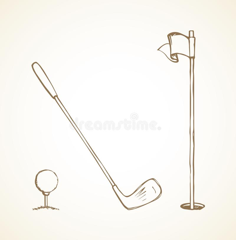The golf ball. Vector drawing stock illustration