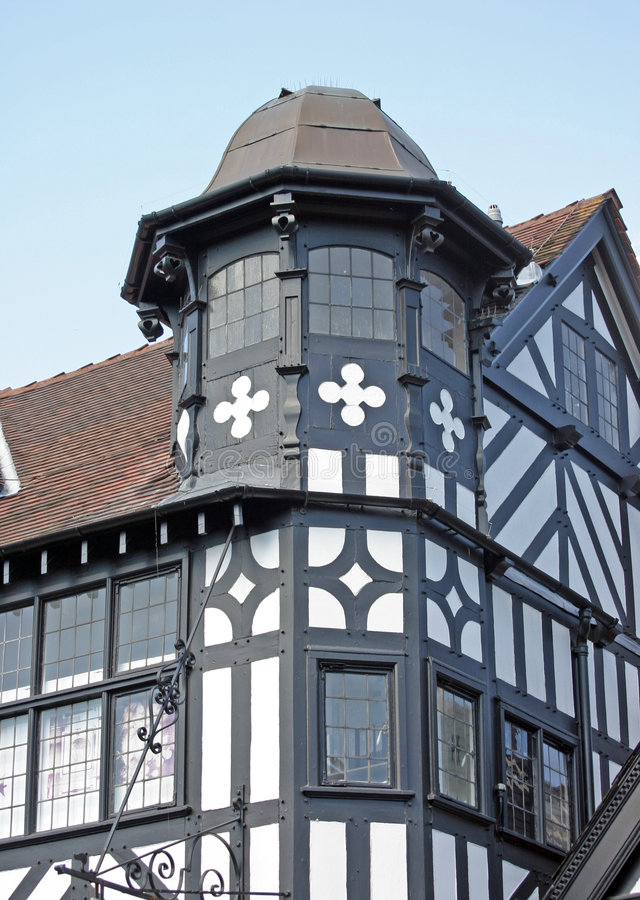 Free Old Black And White Building In Chester Stock Images - 755504