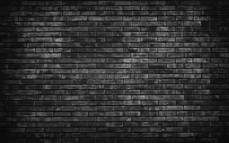 Old Black Brick Wall Background. Stock Photo - Image of ...