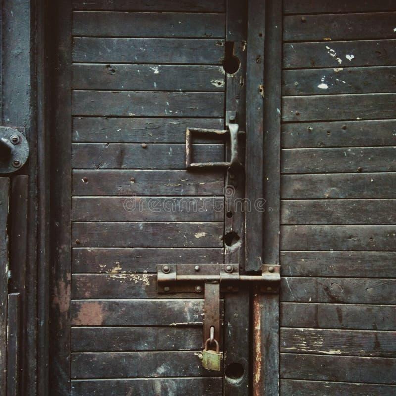 Old black door stock photo