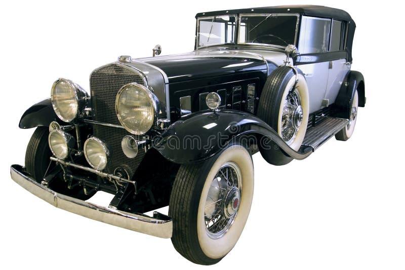 Old black limousine stock image