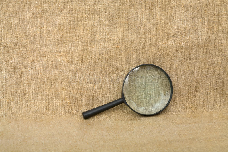 Download Old Black Magnifier On Drapery Background Stock Photography - Image: 12722862