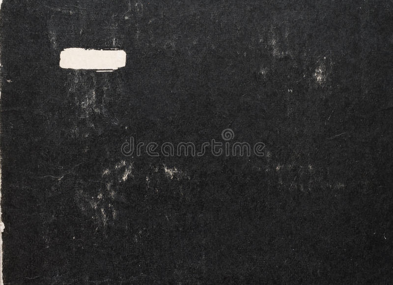 Old black paper cover of book. Abstract background stock photography