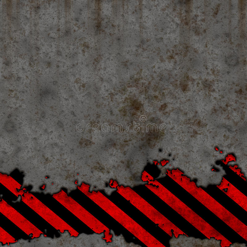 Download Old Black And Red Hazard Stripes Sign Wall Stock Photo - Image: 11841990