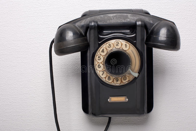 Download Old black rotational phone stock image. Image of grunge - 26803057