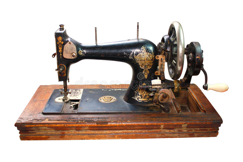 Old black sewing machine royalty free stock images