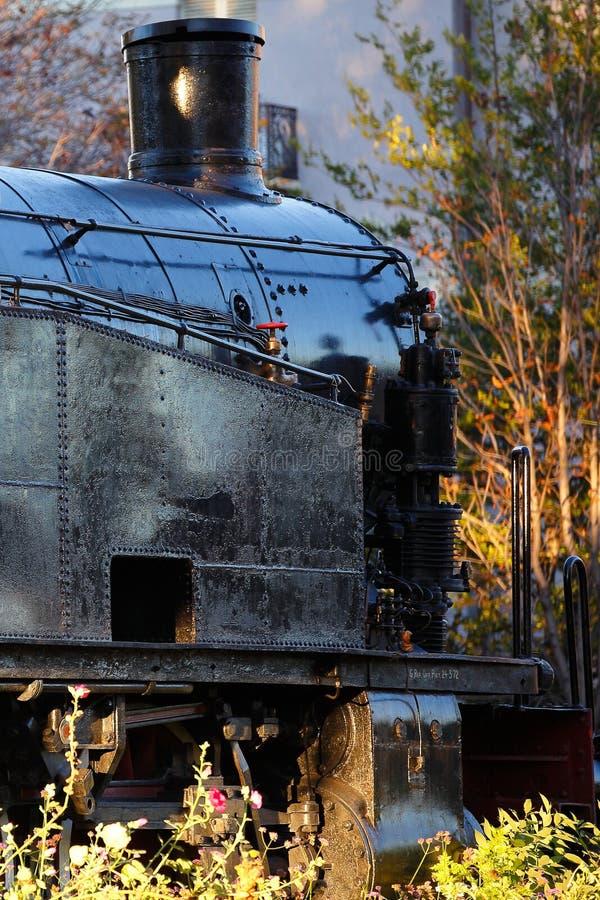 Old black steam locomotive stock images
