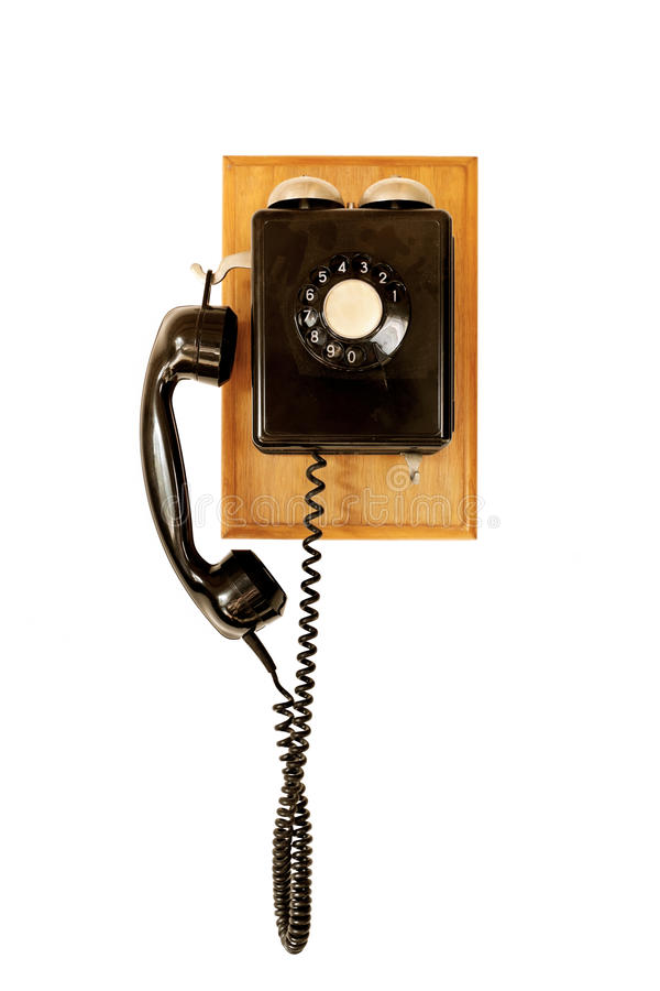 Old black telephone royalty free stock photography