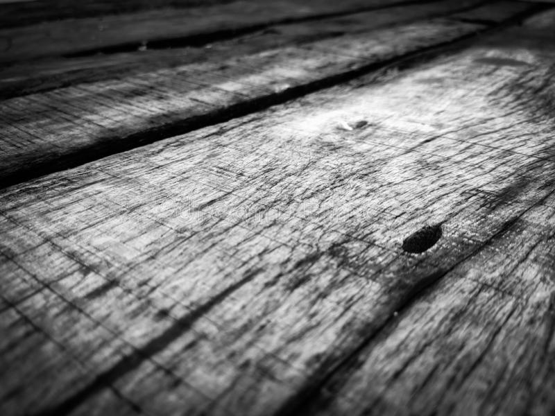 Old Black and white wood texture. stock images