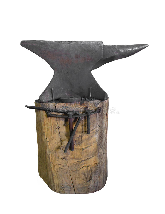 Old blacksmith anvil isolated royalty free stock photos