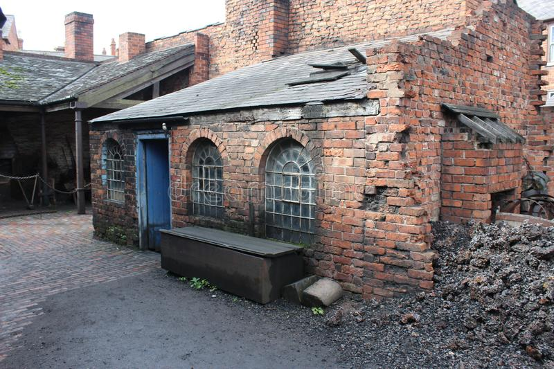 The Old Blacksmiths Workshop. Wherever you found industry in the Black Country in days gone by you would always have a Blacksmith, A hard and labour intensive royalty free stock photography
