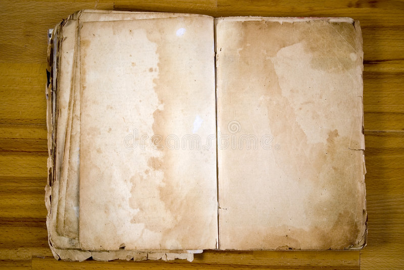 Old blank , Book - antique royalty free stock images
