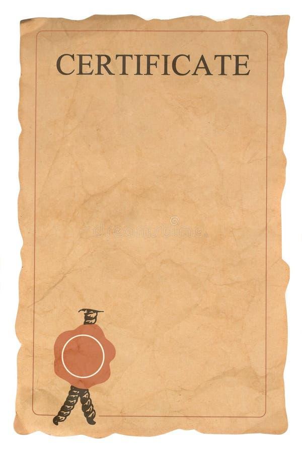 blank certificate format