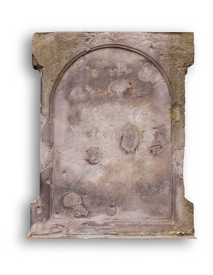 Old blank gravestone royalty free stock photos