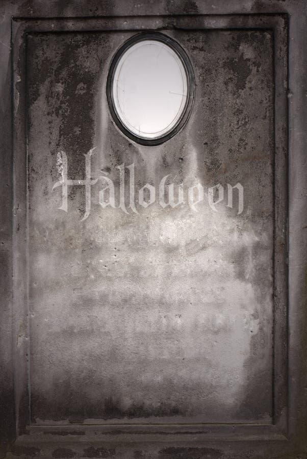 Old blank Halloween gravestone royalty free stock image