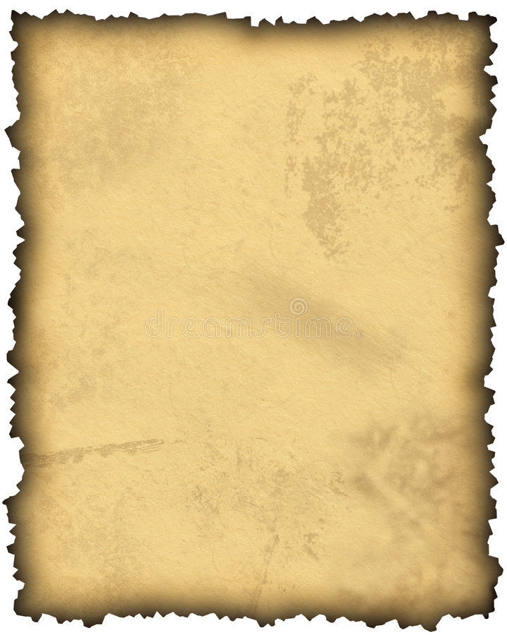 Old Blank Parchment Paper Royalty Free Stock Photo