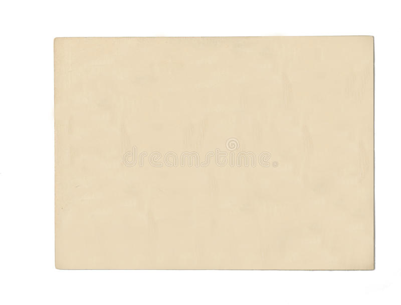 Old blank postcard royalty free stock image