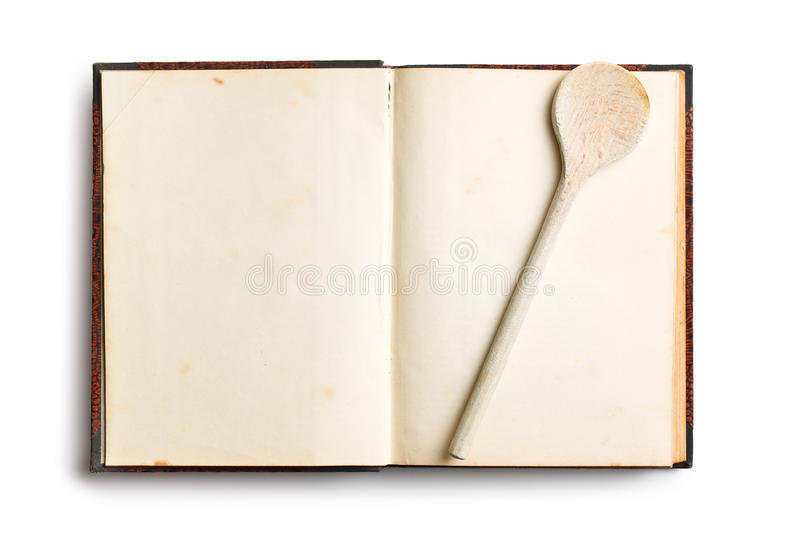 Old Blank Recipe Book Stock Images
